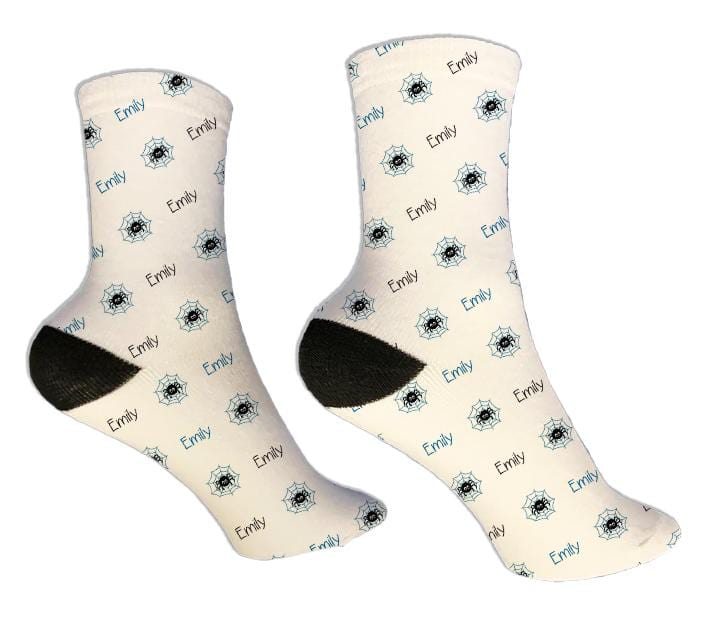 Spider Personalized Halloween Socks - Potter's Printing