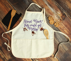 Stand Back This Could Get Messy Personalized Apron - Potter's Printing