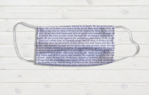 Saint Michaels Prayer Face Mask - Potter's Printing