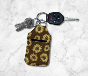 Sunflowers (Brown) Hand Sanitizer Holder