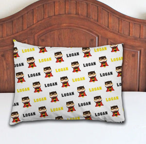 Superhero Boy Personalized Pillowcase - Potter's Printing