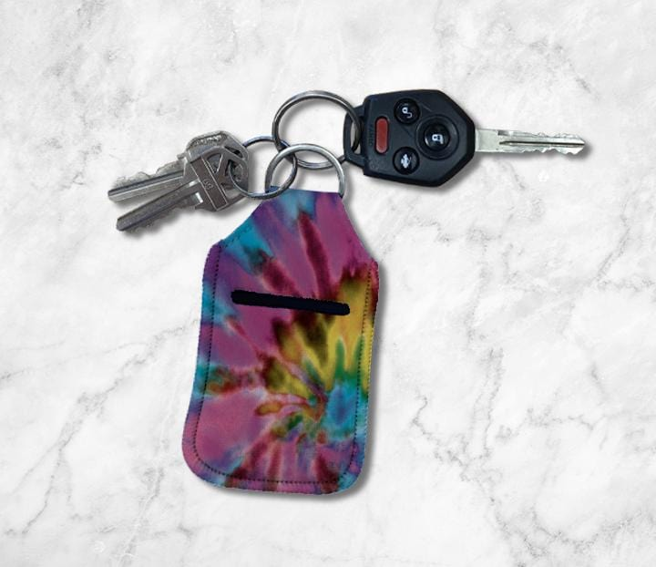Purple Tie Dye Hand Sanitizer Holder