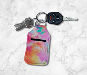 Pink Tie Dye Hand Sanitizer Holder