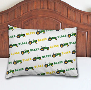 Tractor Personalized Pillowcase - Potter's Printing