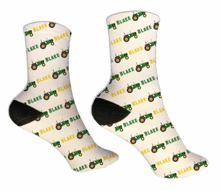 Tractor Personalized Socks - Potter's Printing