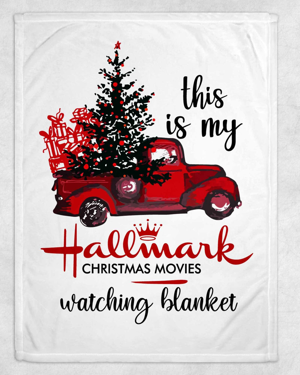 Christmas Truck Hallmark Movie Fleece Blanket - Potter's Printing