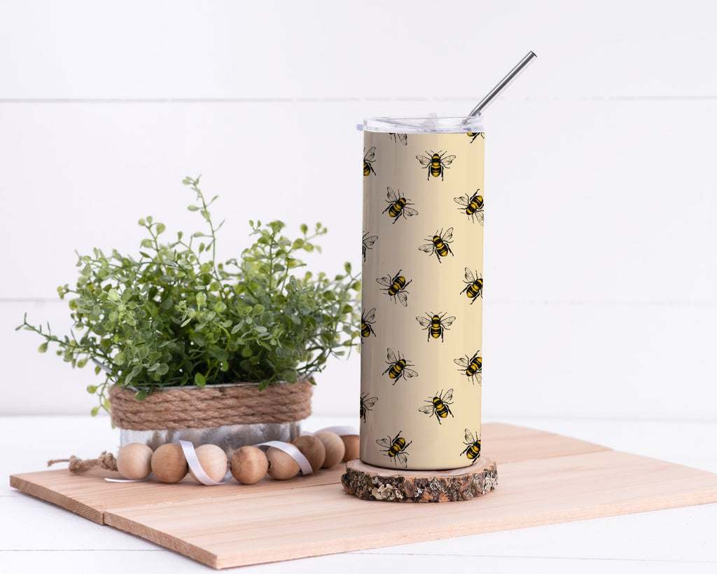 Bees Stainless Steel Tumbler - Potter's Printing