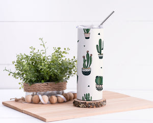 Cactus Stainless Steel Tumbler - Potter's Printing