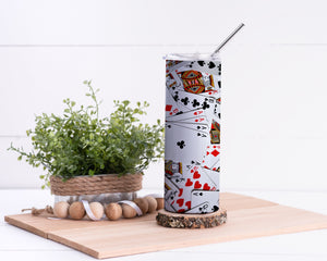 Cards Stainless Steel Tumbler - Potter's Printing