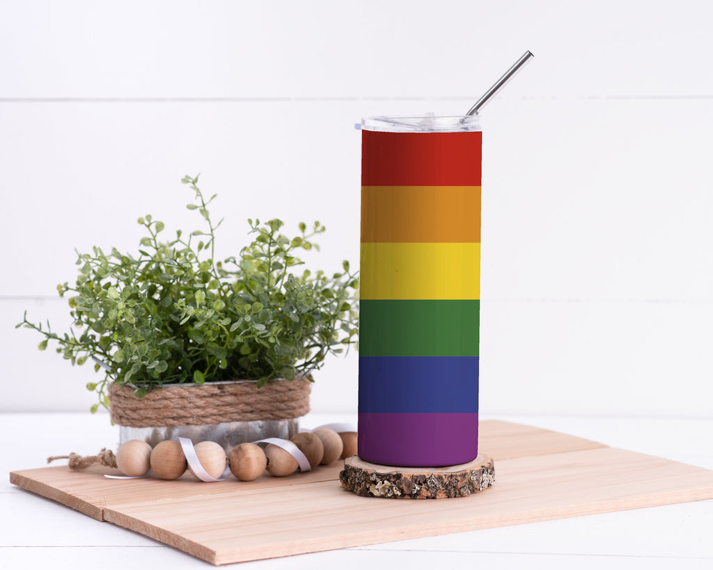 Rainbow Stainless Steel Tumbler - Potter's Printing