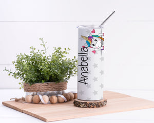 Unicorn Personalized Stainless Steel Tumbler - Potter's Printing