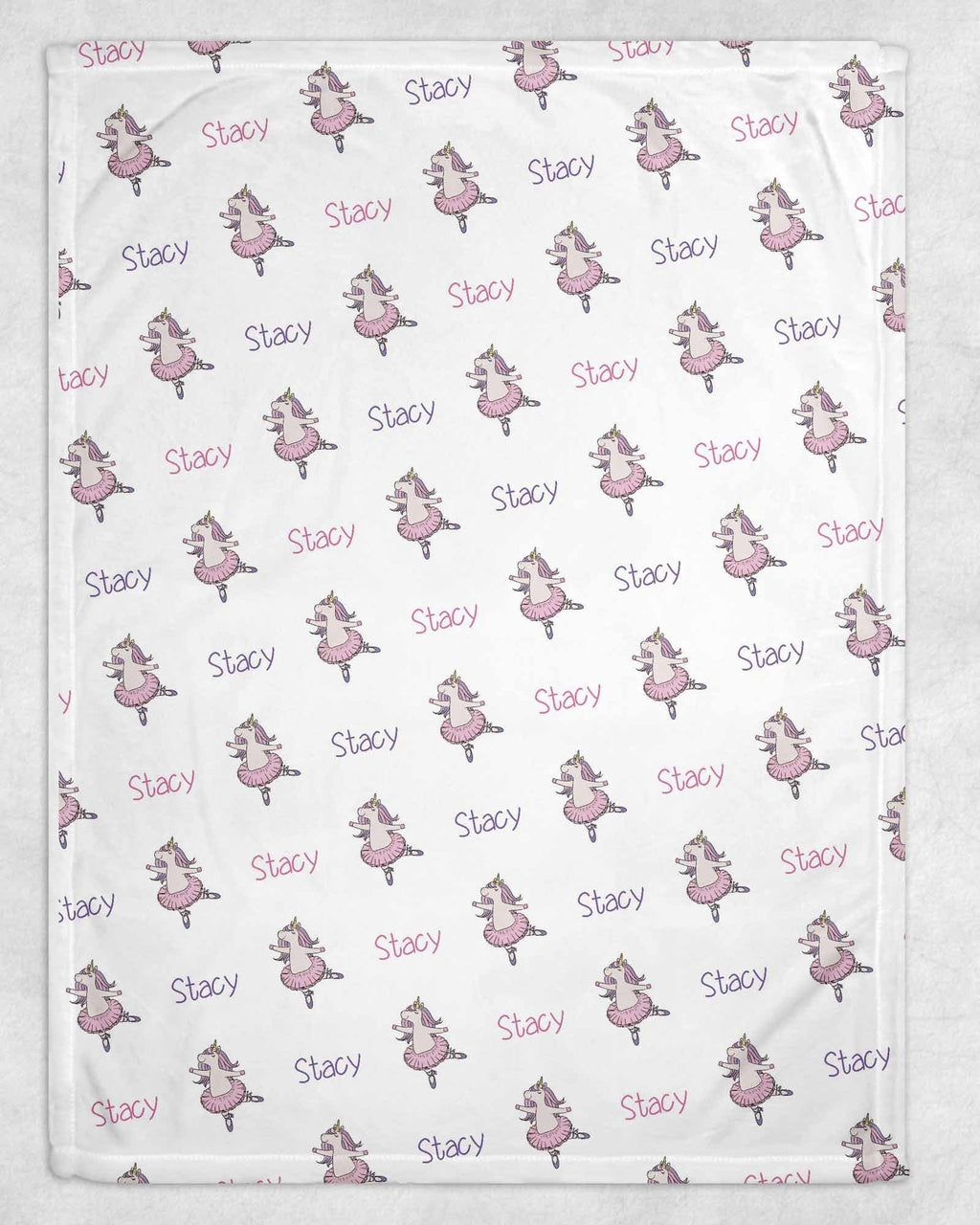 Unicorn Ballet Personalized Blanket