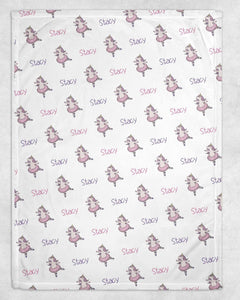 Unicorn Ballet Personalized Blanket - Potter's Printing