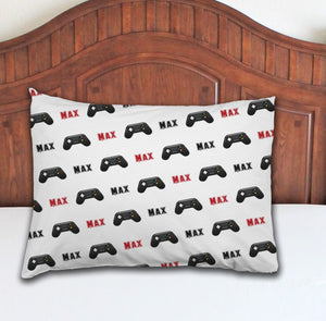 Game Cotroller Personalized Pillowcase - Potter's Printing