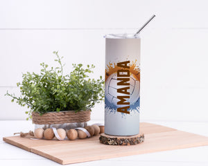 Volleyball Personalized Stainless Steel Tumbler - Potter's Printing