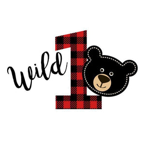 Wild One 1st Birthday Bear Personalized Birthday Tissue Paper - Potter's Printing