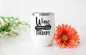 Wine Therapy Wine Tumbler - Potter's Printing