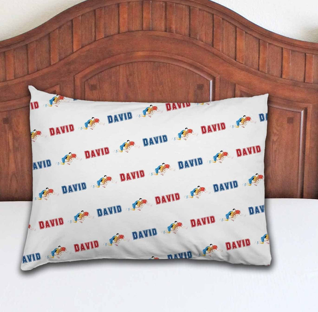 Wrestling Personalized Pillowcase - Potter's Printing