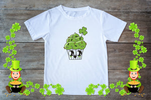 Youth Graphic TEE St. Patrick's Day Cupcake - Potter's Printing