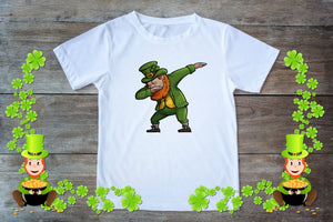 Youth Graphic TEE St. Patrick's Day Dabbing - Potter's Printing