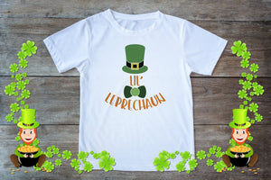 Youth Graphic TEE St. Patrick's Day Lil' Leprechaun - Potter's Printing