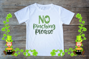 Youth Graphic TEE St. Patrick's Day No Pinching - Potter's Printing