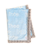 Personalised Cot Blanket - Light Blue