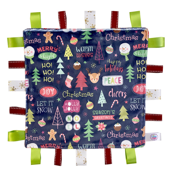 Holly Jolly Christmas Personalised Taggiez ~ Blue