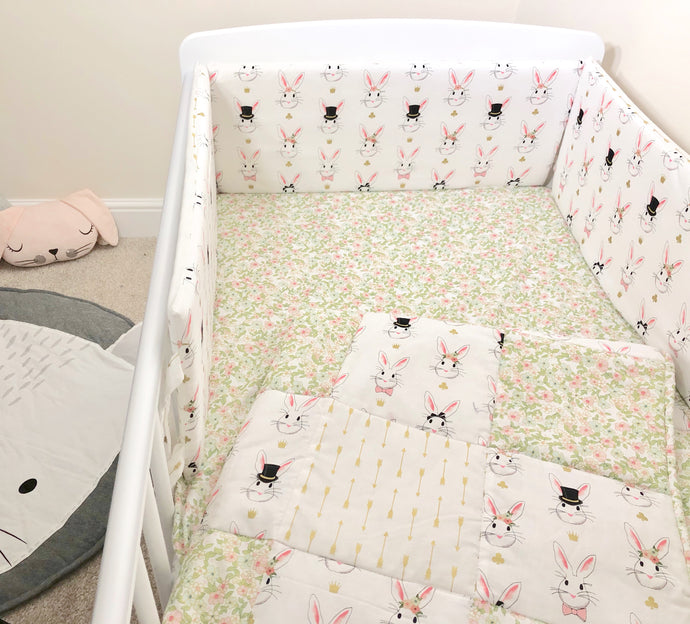 White Rabbit Cot Bedding Set