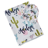 Personalised Cactus Swaddle Blanket
