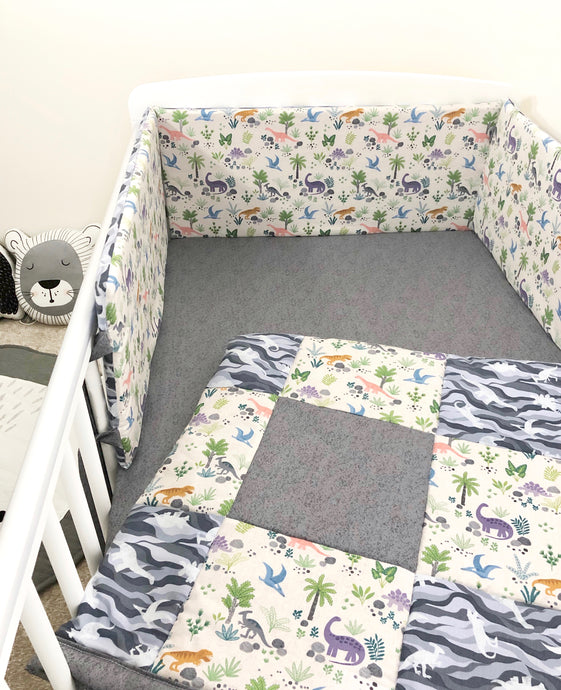 Dinosaur Cot Bedding Set