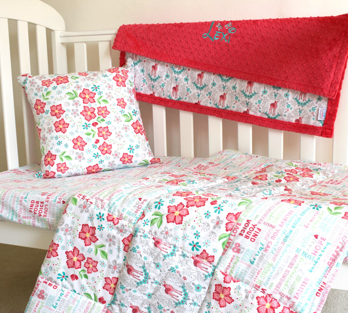 Flora and Fawn Cot Bedding Set