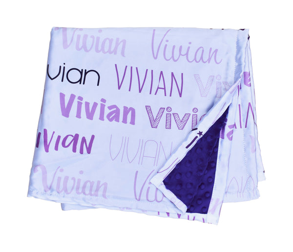 Purple Satin Personalised Blanket