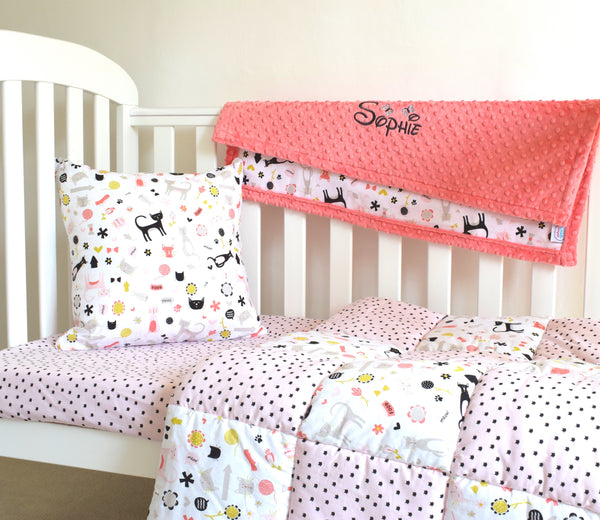 Meow Cot Bedding Set