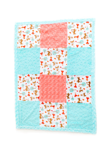 Design Your Own Patchwork Cot Sized Blanket