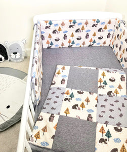Into The Woods Cot Bedding Set