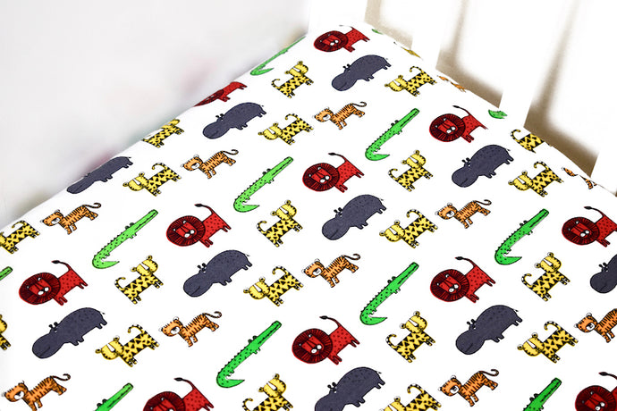 Jungle Cot bed Sheet