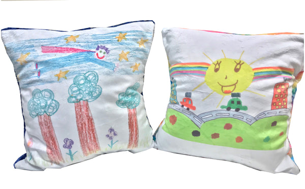 Personalised child's drawing cushion
