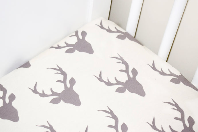 Cream Stag Cotbed Sheet