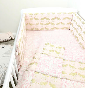 Pink Zebra Cot Bedding Set