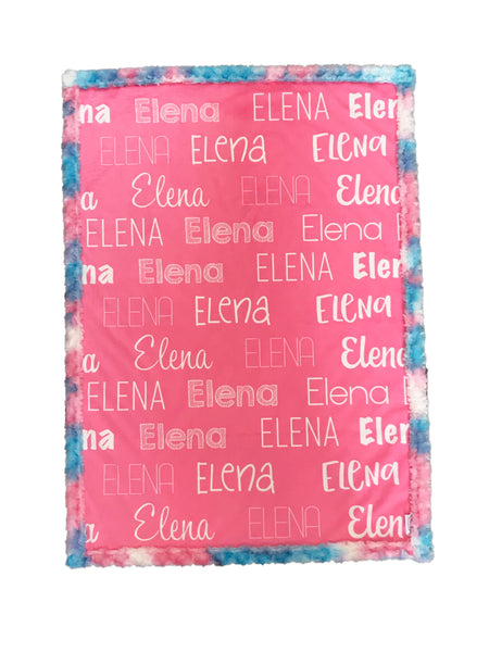 Personalised Cot Blanket - Pink