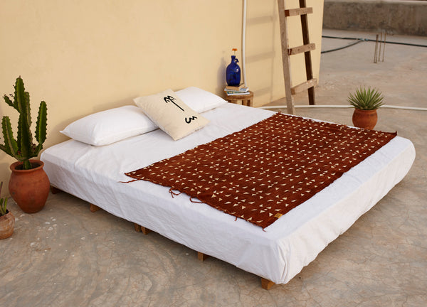 Brown Pattern Mud Cloth Throw