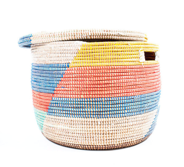Multi Colour Handwoven Storage Basket