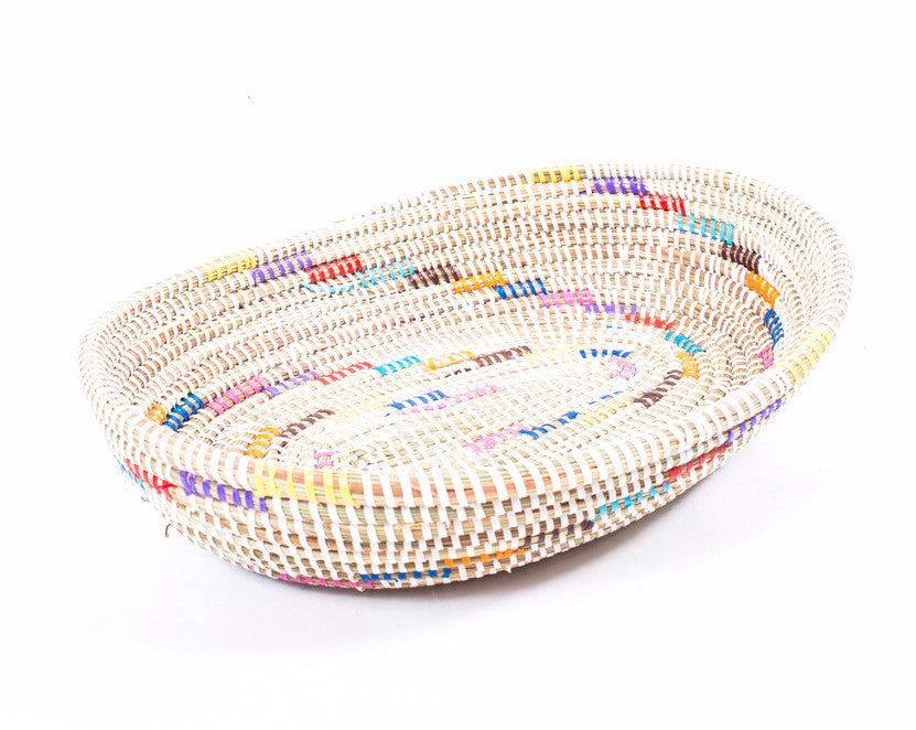 Cream Candy Handwoven Basket