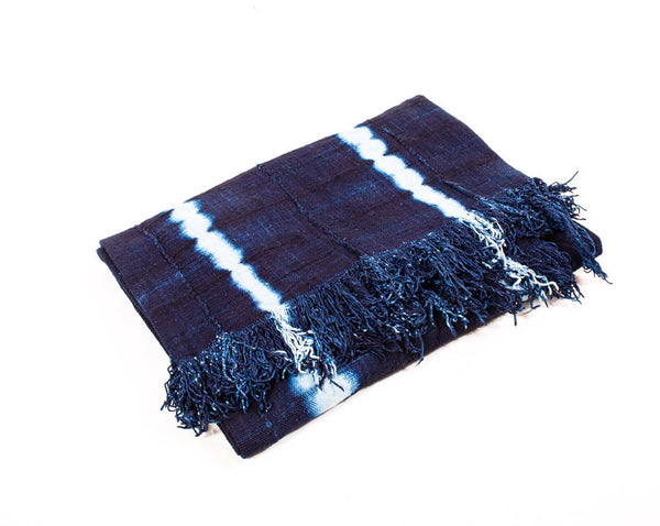 Indigo Tie Dye Throw