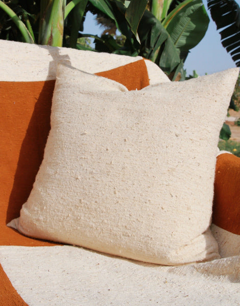 Organic Natural White Cushion