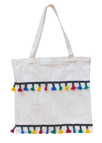 Colorful Tassles Tote