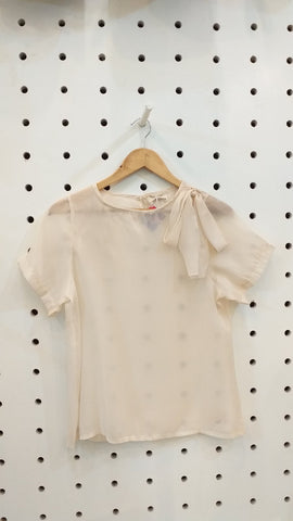 Organza sheer top