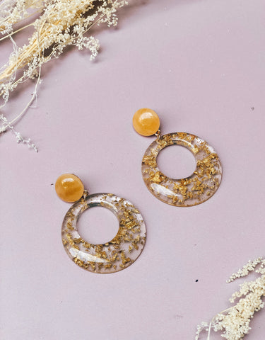 Golden Flakes Earrings