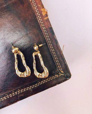 Irregular Teardrop Earrings